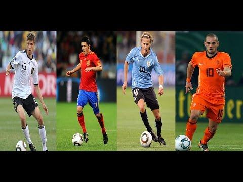 Diego Forlán, Thomas Müller, Wesley Sneijder, David Villa - South Africa 2010 - 5 goals