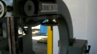 Testing Of Tannewitz Vertical Band Saw