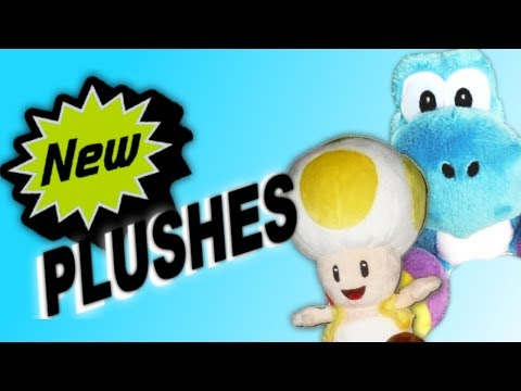 New Plushes: Blue Yoshi and Yellow Toad!