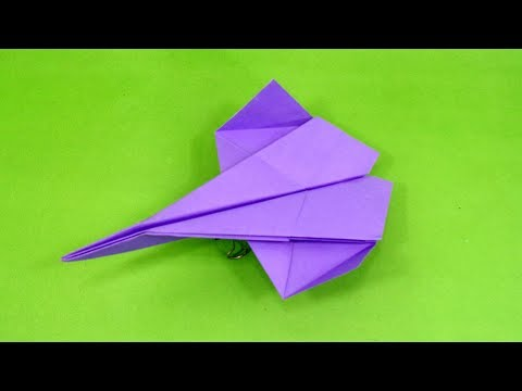 Paper Crafts Fighter plane - How To make A Paper Jet Plane - DIY Origami Easy Plane Making Tutorial