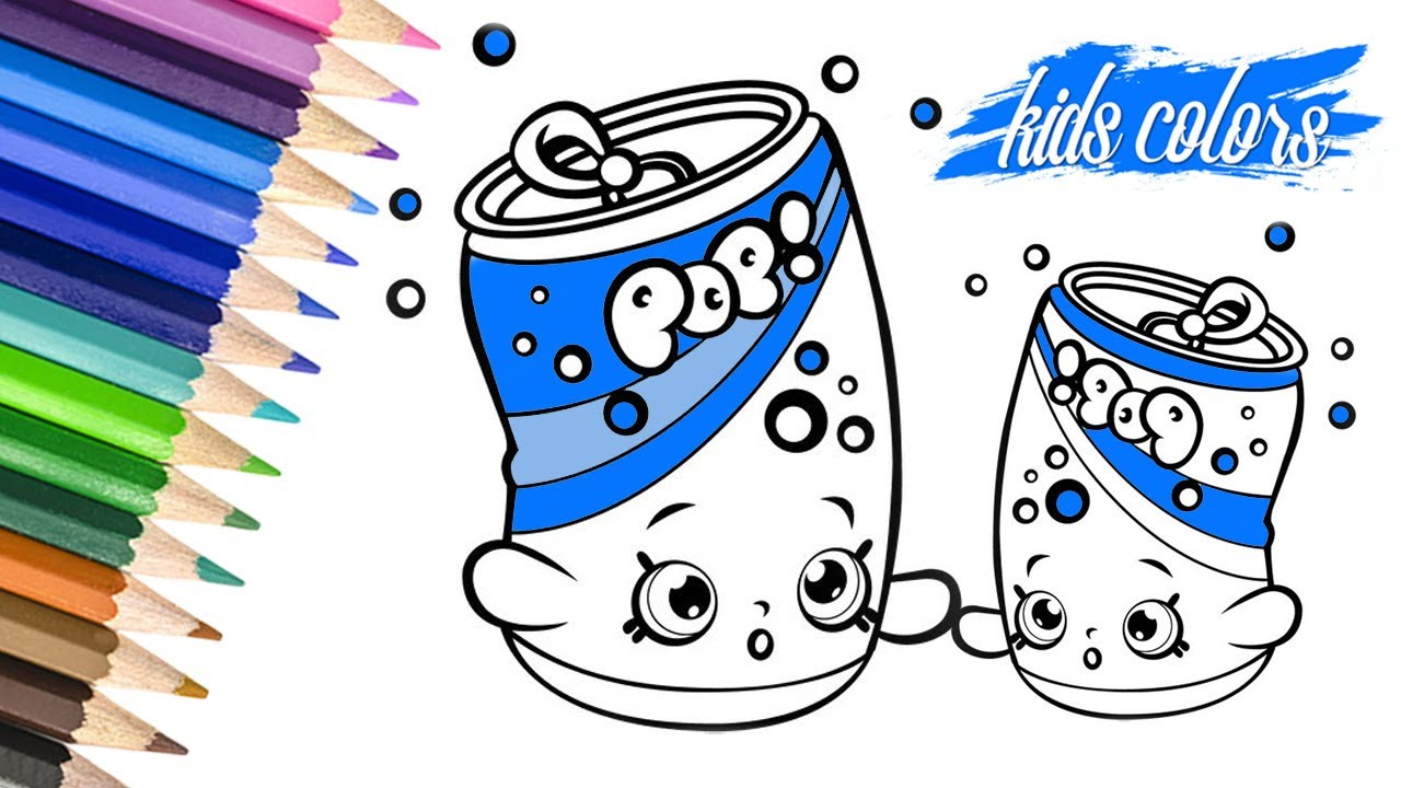 Soda Pops Shopkin Coloring Page For Kids To Lear