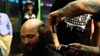 Jose Fernandez gives Miami Marlins fan a haircut