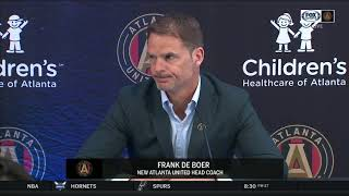 Atlanta United introduces new coach Frank de Boer