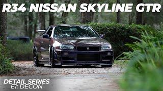LZ R34 Nissan Skyline GTR Midnight Purple III Vspec Detail Series E1: Decon