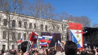 Прямая трансляция речи Путина о присоединения Крыма и Севастополя на площади Нахимова
