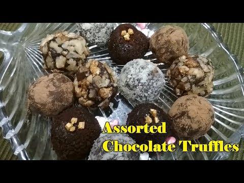 How To Make Assorted Chocolate Truffle   Easy Recipe