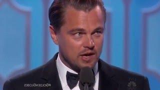 Golden Globes 2016 - Leonardo Di Caprio Acceptance Speech