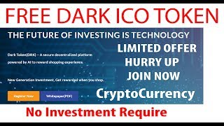 Free Crypto Token | DarkToken | Get Tokens Now - Worth 10$ - Upcoming Crypto Currency