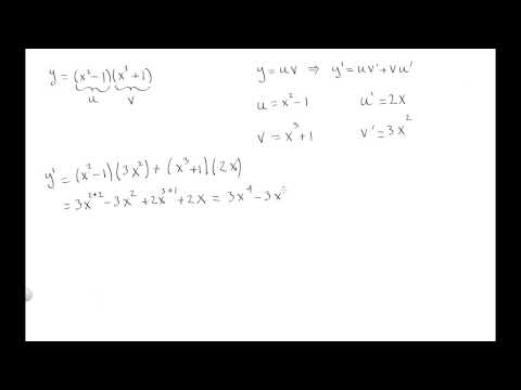 Derivative of f(x)=(x^2-1)(x^3+1) using the product rule