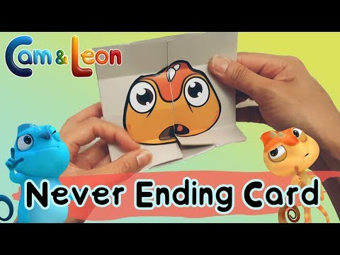 Playtime with Cam & Leon | DIY Never Ending Card | Cam & Leon
