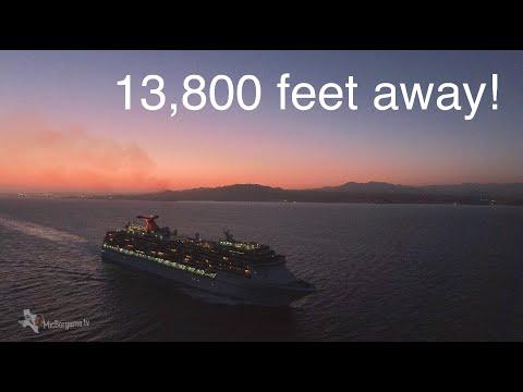DJI Phantom 4 Chasing a Cruise Ship in Cabo, Mexico