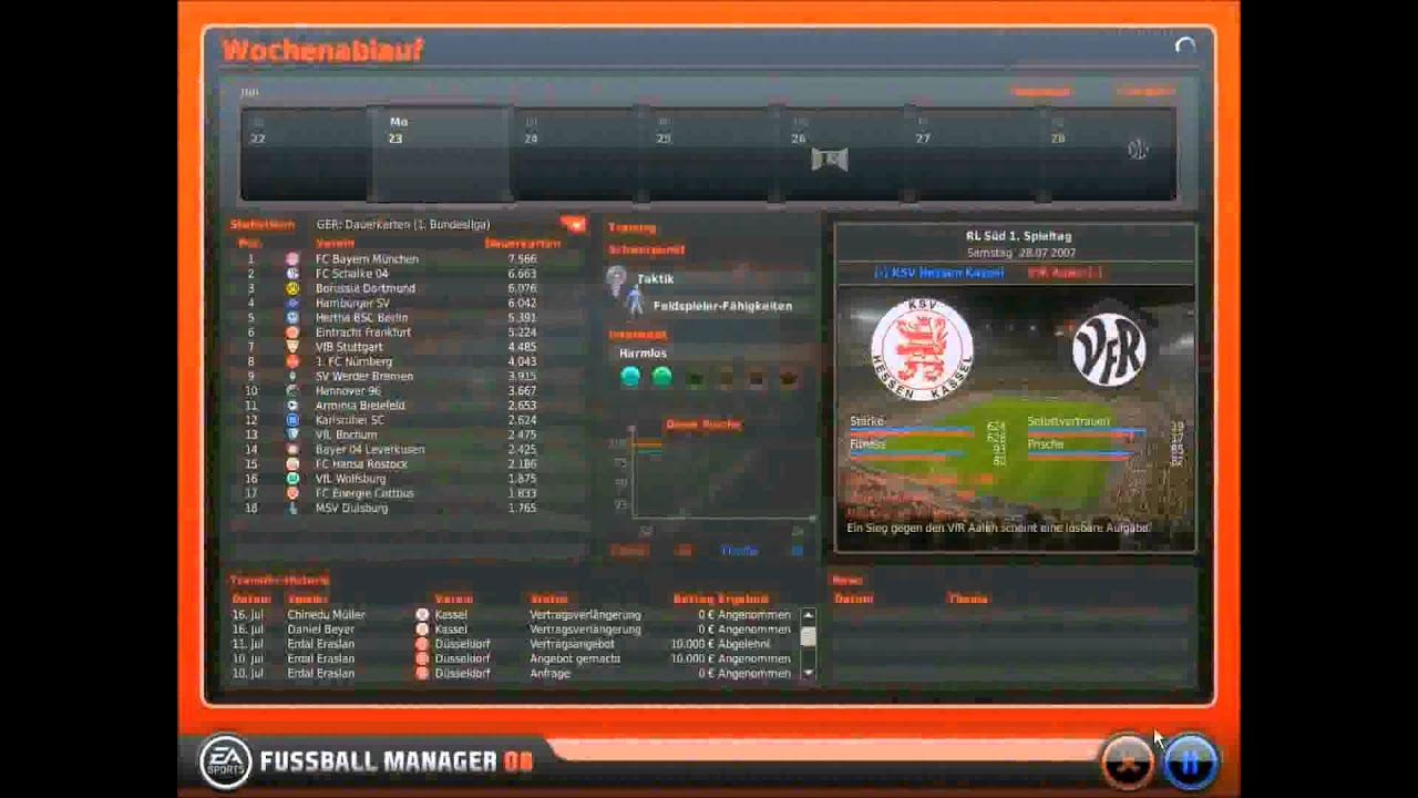 Lets Play Fussball Manager 08 Part3