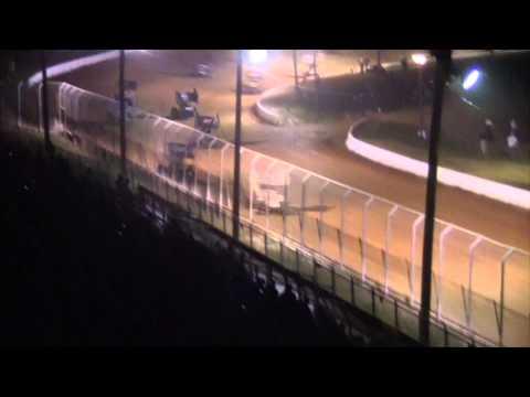 Port Royal Speedway 410 Sprint Car Highlights 9-05-15