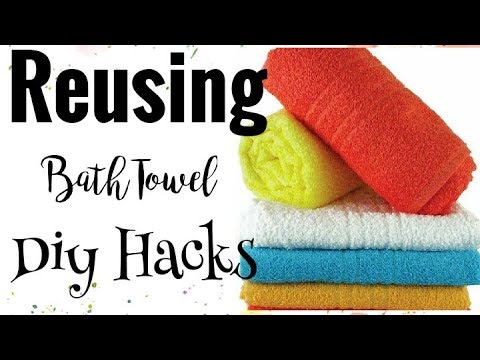 Recycle Old Towels to BathMat/Rug