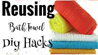DIY|How to Recycle Old Towels to BathMat/Rug/Sheet Craft Idea & Hacks