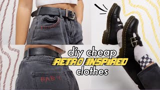 diy cheap retro & *aesthetic* clothes 4 ppl like me that can't afford unif etc… 👼🏻 (ep 1)