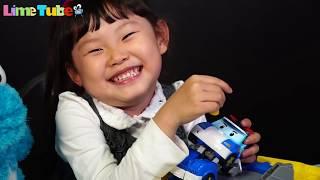 상어공격 로보카폴리 파랑이를 구해줘! 라임 젤리 먹방 장난감 놀이 shark attack Robocar poli | LimeTube & Toy