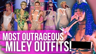 10 Most OUTRAGEOUS Miley Outfits Ever! (Dirty Laundry)