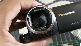 Panasonic HC-V270 video camera review& unboxing