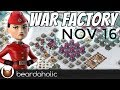 Boom Beach Gearheart War Factory Unboosted Gameplay Walkthrough for Nov 16, 2017