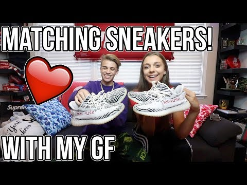 BF & GF MATCHING SNEAKER COLLECTION!! (COUPLE GOALS)