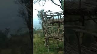 ที่อยู่ของพรานล่าสัตว์ป่าบนเขา