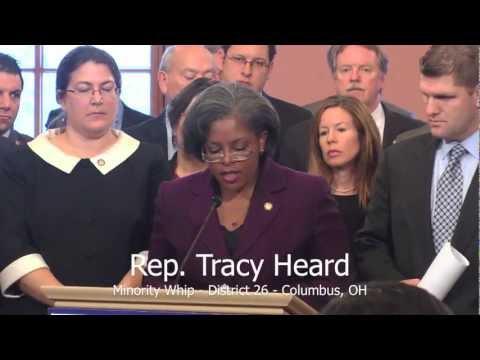 Ohio Progressive Caucus Members at Democratic House Caucus Legislative Priorities Press Conference