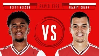 Who can lift the most weight at Arsenal? | Reiss Nelson v Granit Xhaka | Rapid Fire