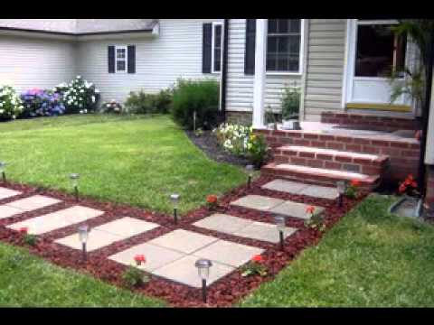 Easy DIY ideas for walkway decorations - YouTube
