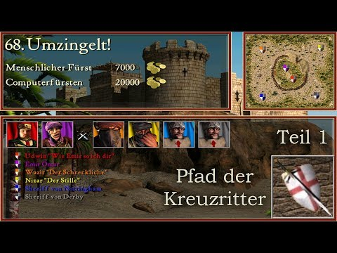 M68 - Umzingelt! - Teil1  - Kreuzritter - Stronghold Crusader | Let's Play (German)