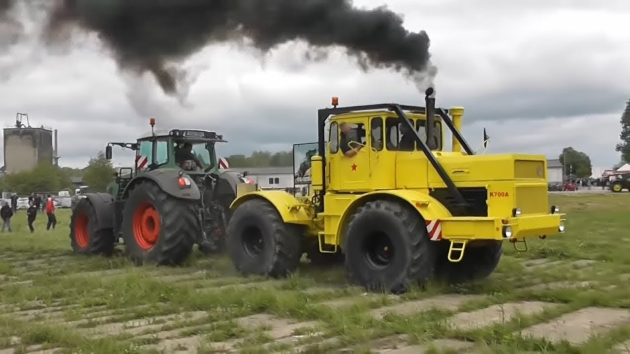 Советский трактор K-700 КИРОВЕЦ против всех ч2| Soviet tractor K-700 KIROVETS against all