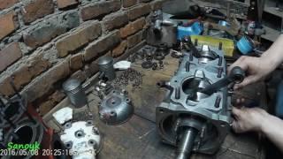 Збірка двигуна пожежної мотопомы МП 800 Б Частина #1 Установка коленвала
