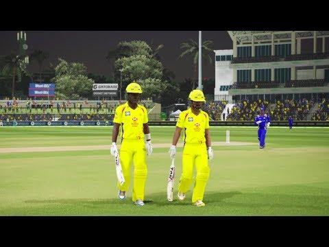 Chennai Super Kings vs Mumbai Indian - IPL 2018 Ashes Cricket Gameplay