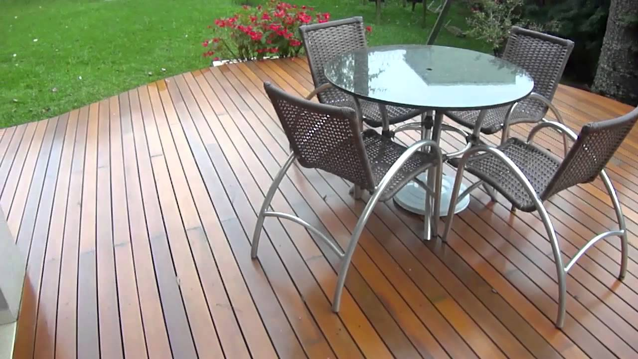 Image Result For How To Build A Ground Level Deck Youtube