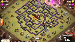 Clash of Clans 3star TH9 vs TH10 with Lavaloonion