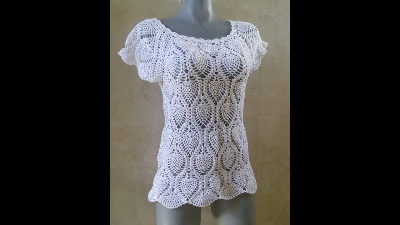 blusa piñas con Canesu rectangular parte 1 - YouTube 1de4426c6d1d3