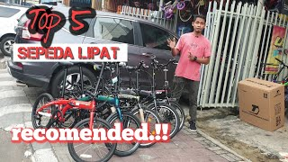 Top 5 Sepeda Lipat rekomendasi buat pemula