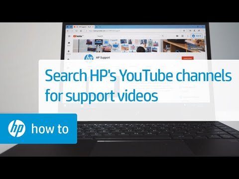Search HP YouTube Channels For Support Videos | HP Support | HP