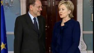 Secretary Clinton Meets With Secretary General Javier Solana