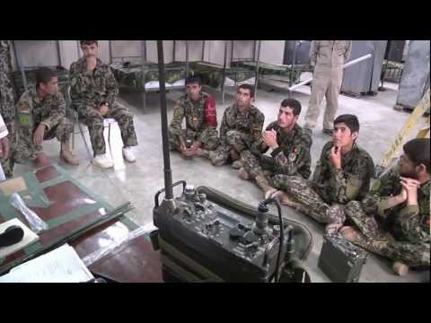 U.S. Army conducts RADIO OPERATOR class for Afghan soldiers