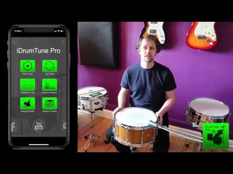 iDrumTune Pro drum tuner app - Target Filter Function for Accurate Drum Tuning