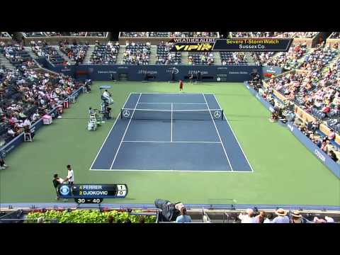 ATP 2012 US Open SF Djokovic vs Ferrer Part1