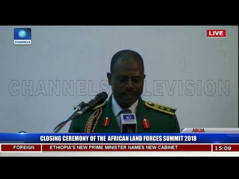 Buratai,Olonishakin,Lebeuf Charge Officers On Terrorism Fight Pt 1 | African Land Forces Summit |