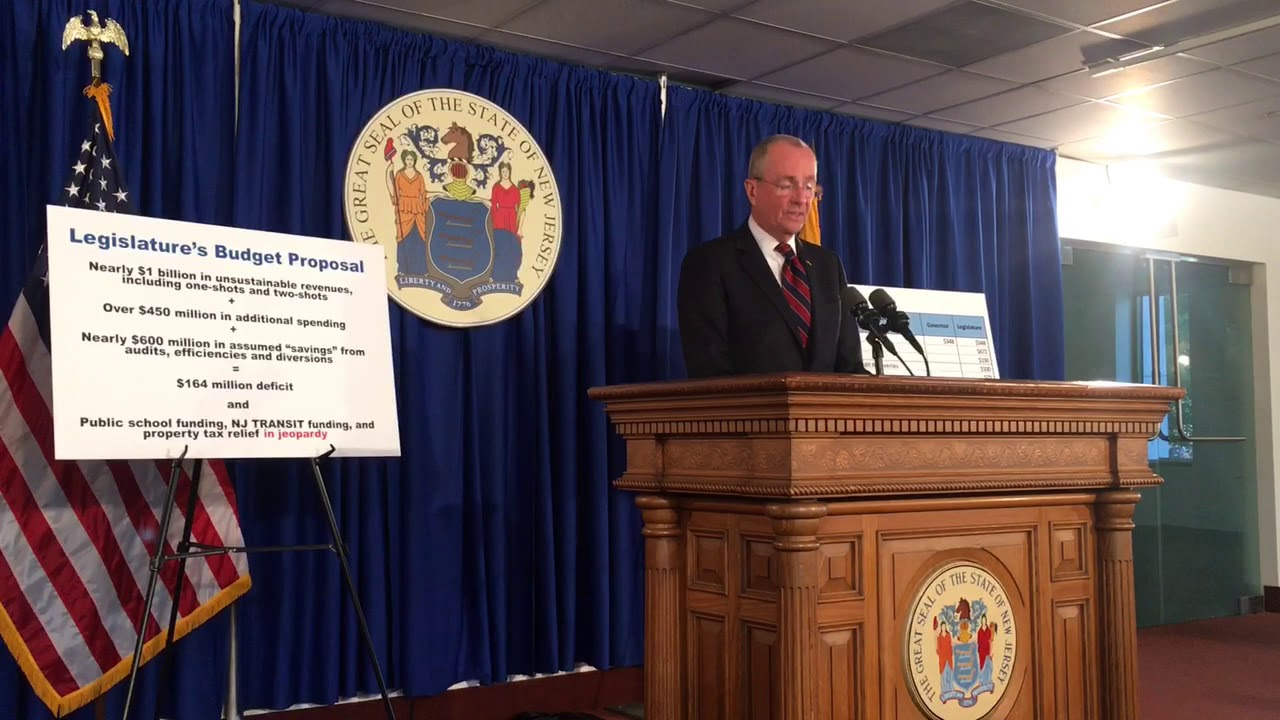 Gov  Phil Murphy vows to veto N J  lawmakers' state budget plan