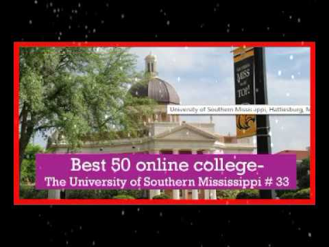 Best 50 online college in usa   The University of  Southern Mississippi # 33