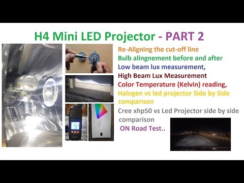 H4 Mini LED Projector Part 2 Brightness And Road Test