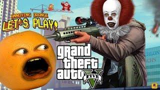 Annoying Orange Plays - GTA V: Clowning Around!