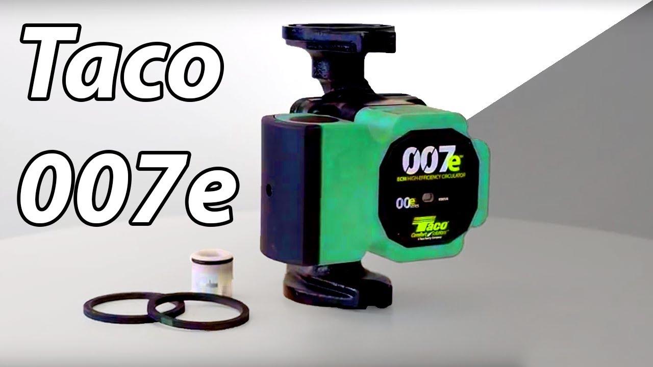 a closer look at the taco 007e high efficiency circulator pump [ 1280 x 720 Pixel ]