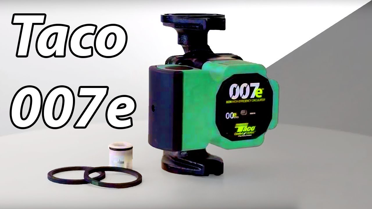 A closer look at the Taco 007e High-Efficiency Circulator Pump