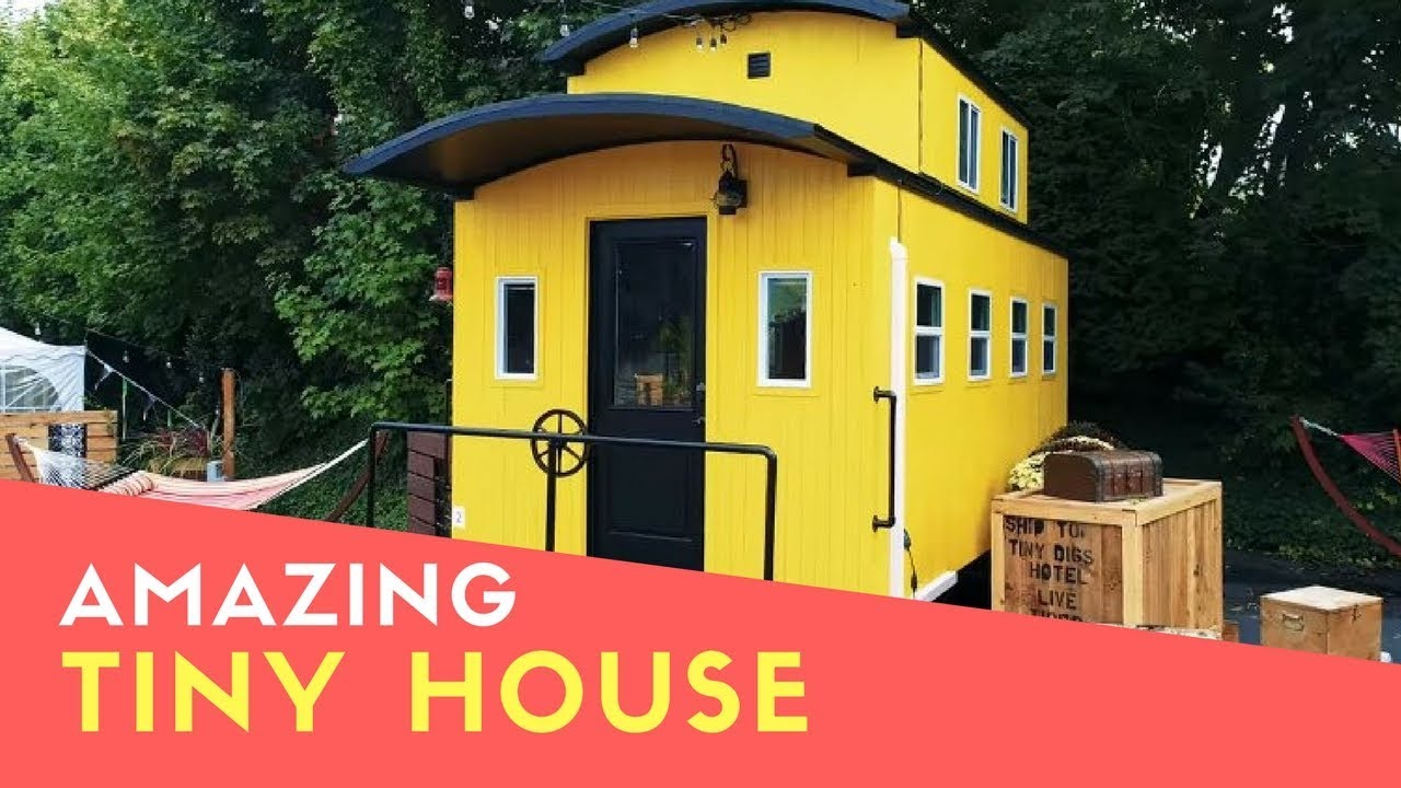 Amazing Beautiful Train Caboose Inspired Tiny House At